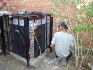 A/C cage installed in Duncanville to reduce chances of theft